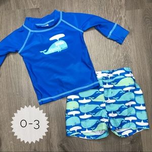 CIRCO | sz 0-3 baby boy swim set